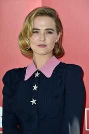 Zoey Deutch channeled Old Hollywood with this curly bob at the Venice Film Fest photocall for 'Women's Tales.'