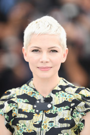 Michelle Williams gave us hair envy with her platinum-blonde pixie at the Cannes Film Festival photocall for 'Wonderstruck.'