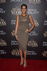 La La Anthony showed off her svelte figure in a body-con tank dress during the premiere of 'Into the Woods.'