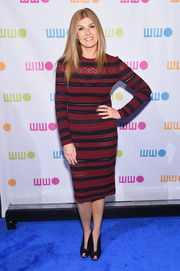Connie Britton wore a long-sleeved red and black striped dress to the Worldwide Orphans 11th Annual Gala