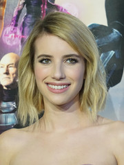 Emma Roberts attended the 'X-Men' world premiere wearing a lovely wavy bob.