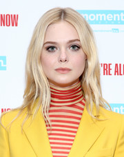 Elle Fanning looked oh-so-pretty with her face-framing waves at the special screening of 'I Think We're Alone Now.'