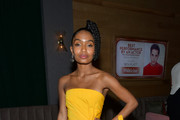 Yara Shahidi Strapless Dress