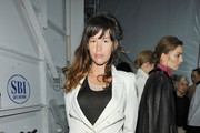Actress Paz De La Huerta poses backstage at the Yigal Azrouel Fall 2011 fashion show during Mercedes-Benz Fashion Week at The Studio at Lincoln Center on February 16, 2011 in New York City.