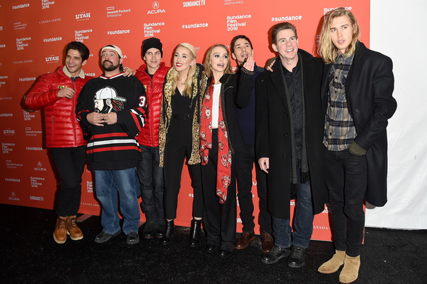More Pics of Lily-Rose Depp Medium Wavy Cut (1 of 6) - Shoulder Length Hairstyles Lookbook - StyleBistro [social group,red,event,team,premiere,l-r,yoga hosers premiere,sundance film festival,kevin smith,tyler posey,harley quinn smith,lily-rose depp,justin long,jason mewes,austin butler]