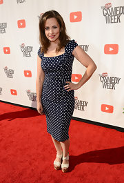 Ceciley Jenkins looked adorable at 'The Big Live Comedy Show' in a retro black-and-white polka-dot dress.
