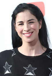 Sarah Silverman looked youthful with this half-up half-down 'do at 'The Big Live Comedy Show.'