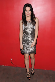 Elizabeth Raeser donned a metallic cocktail dress for the 'Young Adult' premiere.