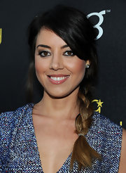 Aubrey Plaza wore her hair in a loose braid with an ombre touch when she attended the Young Hollywood Awards.