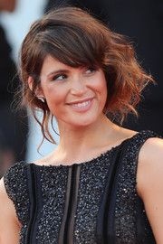 Gemma Arterton worked a messy faux bob at the Venice Film Festival premiere of 'The Young Pope.'