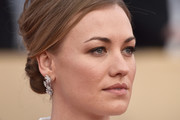 Yvonne Strahovski Dangling Diamond Earrings