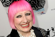 Zandra Rhodes Short cut with bangs