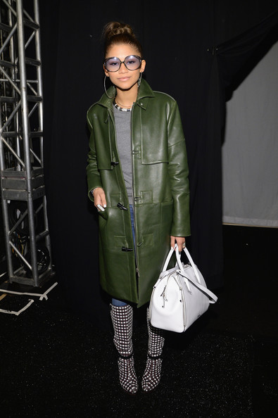 Zendaya Coleman Leather Bowler Bag