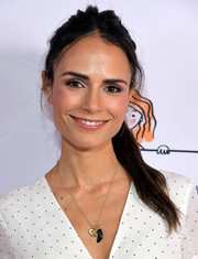 Jordana Brewster attended the We All Play FUNraiser wearing her hair in a messy ponytail.