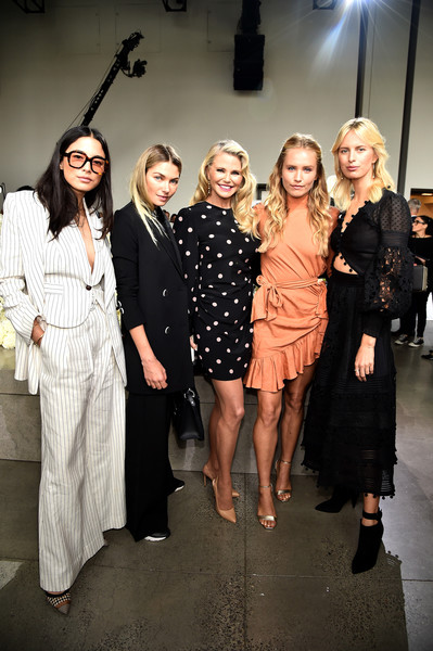 More Pics of Sailor Brinkley Cook Half Up Half Down (1 of 18) - Updos Lookbook - StyleBistro [shows,fashion,event,fashion design,brinkley cook,christie brinkley,karol\u00edna kurkov\u00e1,jessica hart,zimmermann - front row,front row,zimmermann,spring studios,new york fashion week]