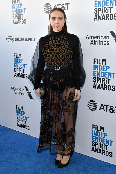 Zoe Kazan Sheer Dress