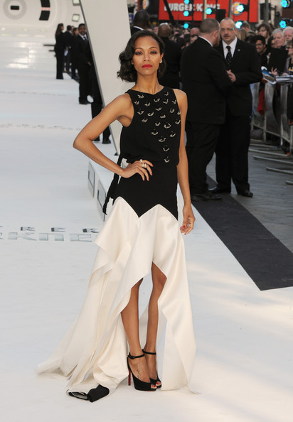 Zoe Saldana Fishtail Dress