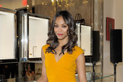 Zoe Saldana's Waves and Curls at the New Michael Kors Boutique Opening in Los Angeles