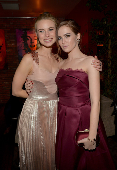 Zoey Deutch Gemstone Bracelet [vampire academy,weinstein company presents the la premiere,dress,clothing,lady,fashion,formal wear,beauty,haute couture,gown,satin,shoulder,actresses,zoey deutch,lucy fry,l-r,l.a. live,party,the weinstein company,premiere]