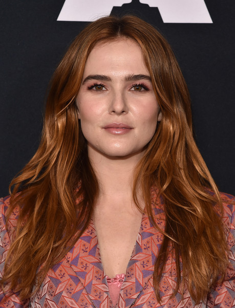 Zoey Deutch Long Center Part [hair,face,hairstyle,eyebrow,long hair,brown hair,blond,beauty,lip,chin,arrivals,zoey deutch,academy nicholl fellowships in screenwriting awards presentation,beverly hills,california,samuel goldwyn theater,academy nicholl fellowships in screenwriting awards presentation]