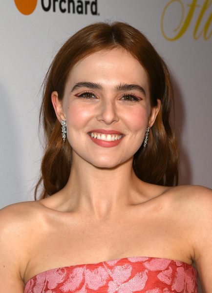 Zoey Deutch Cat Eyes [hair,face,hairstyle,shoulder,eyebrow,lip,beauty,skin,chin,smile,zoey deutch,red carpet,california,los angeles,arclight theatre,the orchard,premiere,premiere]