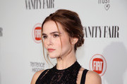 Zoey Deutch Messy Updo