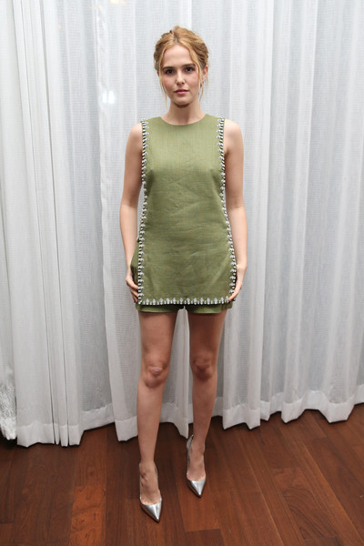 Zoey Deutch Embellished Top [everybody wants some,clothing,dress,fashion model,cocktail dress,fashion,shoulder,leg,footwear,neck,waist,zoey deutch,austin,texas,sxsw music,film interactive festival,party]