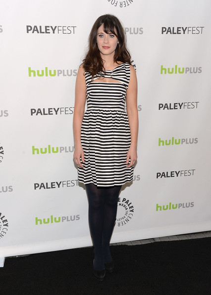 Zooey Deschanel Print Dress
