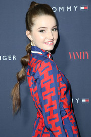 Kaitlyn Dever looked adorable with her banded ponytail during the Zooey Deschanel and Tommy Hilfiger collection debut.