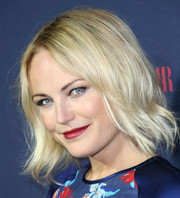 Malin Akerman sported an edgy-cute layered razor cut during the Zooey Deschanel and Tommy Hilfiger collection debut.