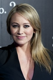 Christine Taylor wore her straight tresses swept to the side during the 'Zoolander No. 2' Madrid fan screening.