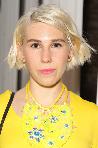 Zosia Mamet Short Side Part [hair,face,hairstyle,blond,yellow,eyebrow,chin,fashion,beauty,lip,zosia mamet,front row,honor,art beam,new york city,fashion show,mercedes-benz fashion week]
