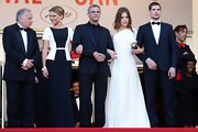 Adele Exarchopoulos looked ethereal and gorgeous in this one-shoulder white gown.