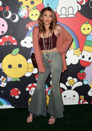 Paris Jackson gave us retro vibes with these flare jeans at the alice + olivia x FriendsWithYou collection launch.