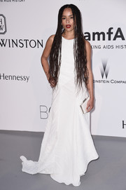 Zoe Kravitz opted for simple elegance with this sleeveless white Vionnet gown at the amfAR Cinema Against AIDS Gala.