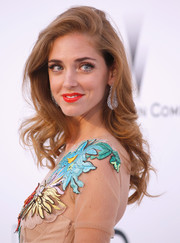 Chiara Ferragni wore her hair in a tumble of waves during the amfAR Cinema Against AIDS Gala.