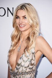 Jessica Hart looked like Barbie with her long blonde waves at the amfAR Cinema Against AIDS Gala.