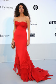 Ravishing in red, Afef Jnifen was a photographer's dream at the 64th annual Cannes Film Festival.
