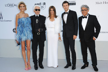Carine Roitfeld Karl Lagerfeld amfAR Gala - Red Carpet Arrivals - 64th Annual Cannes Film Festival