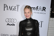 Actress Sharon Stone arrives at the amfAR Inspiration Gala celebrating men's style with Piaget and DSquared 2 at Chateau Marmont on October 27, 2010 in Los Angeles, California.
