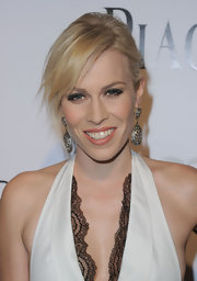 Natasha Bedingfield created her smoky-eyed look with glittery liner for the amfAR Inspiration Gala.