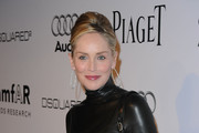 Sharon Stone Wears a Leather Dress