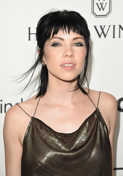 Carly Rae Jepsen went for an ultra-edgy half-up hairstyle when she attended the amfAR Inspiration Gala.