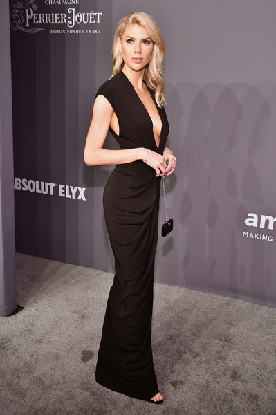 More Pics of Charlotte McKinney Long Wavy Cut (1 of 5) - Charlotte McKinney Lookbook - StyleBistro [dress,clothing,shoulder,fashion model,fashion,hairstyle,carpet,neck,premiere,little black dress,arrivals,charlotte mckinney,new york city,cipriani wall street,amfar new york]