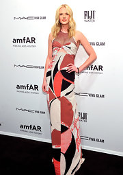 Anne V brought life to the red carpet in this artistic column dress with a subtle bust cutout.