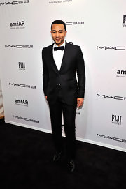 John Legend dressed to impress in a classic tux at the amfAR Gala in NYC.