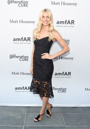 Jessica Hart was classic and oh-so-lovely in a black lace slip dress during the amfAR generationCure Solstice 2016.