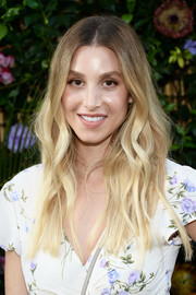 Whitney Port wore lovely face-framing waves at the Ban.do poolside party.