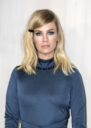 January Jones kept her hair in place with a black barrette when she attended the Hammer Museum Gala.