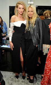 Rachel Zoe attended the harper by Harper's Bazaar event looking tough-glam in a studded black leather jacket.